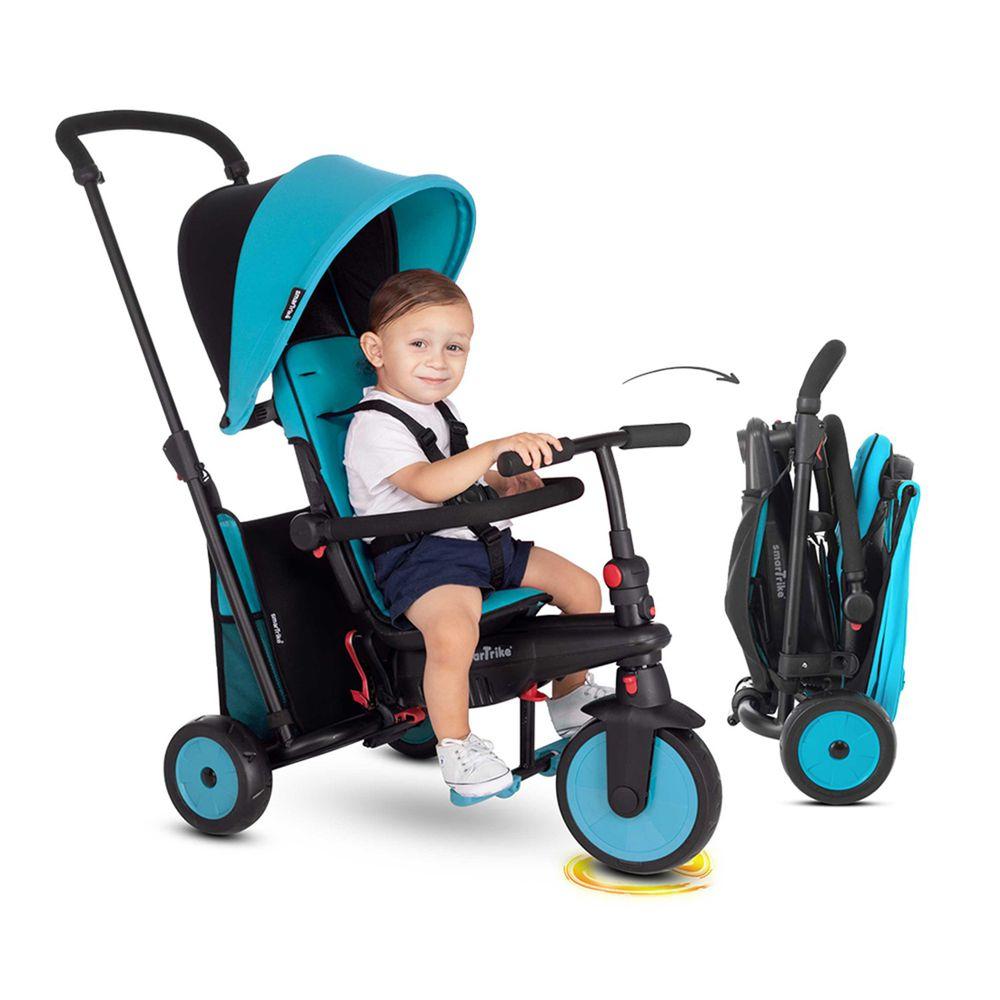 smarTrike - STR3 折疊避震三輪車-藍色 (展開:100x48x95cm/折疊:36.5x61cm)