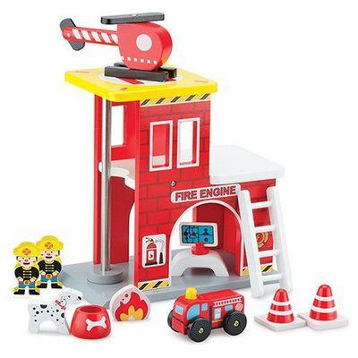 小英雄消防署木製玩具