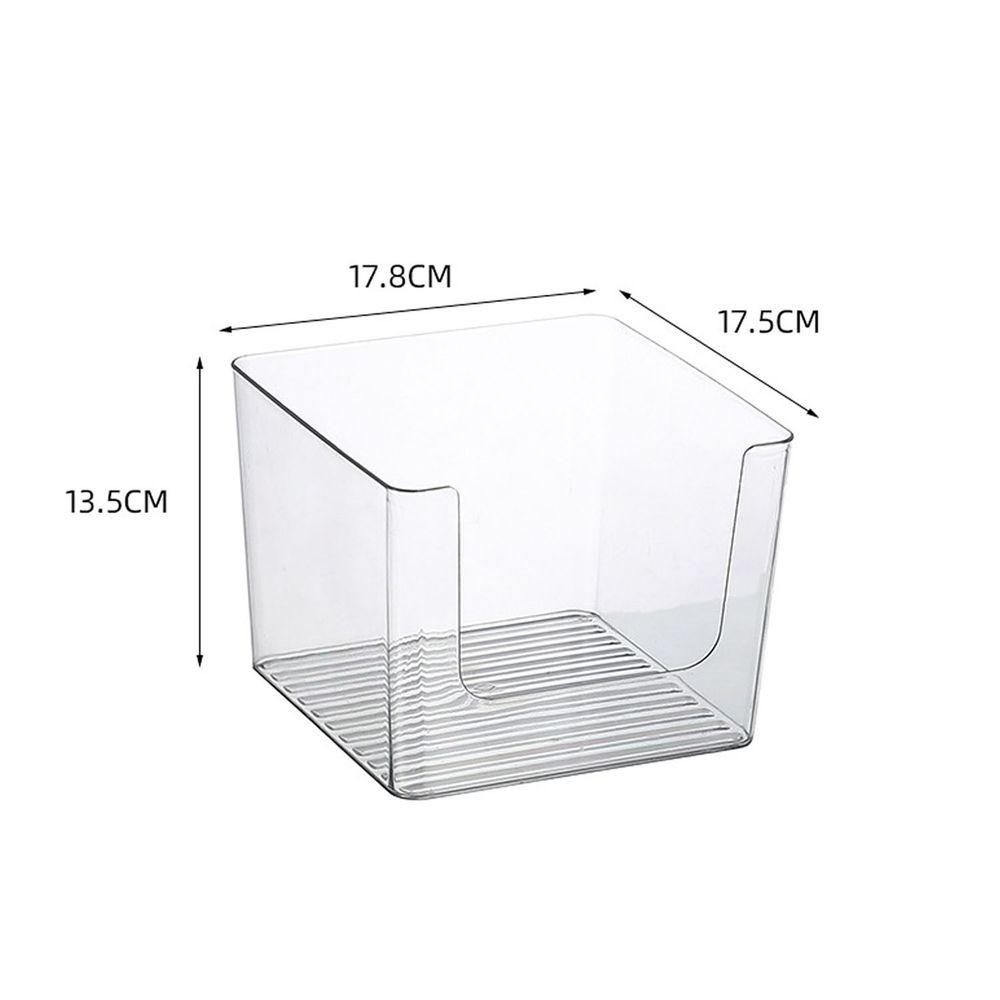 U型開口透明收納盒-小號 (17.8x17.5x13.5cm)