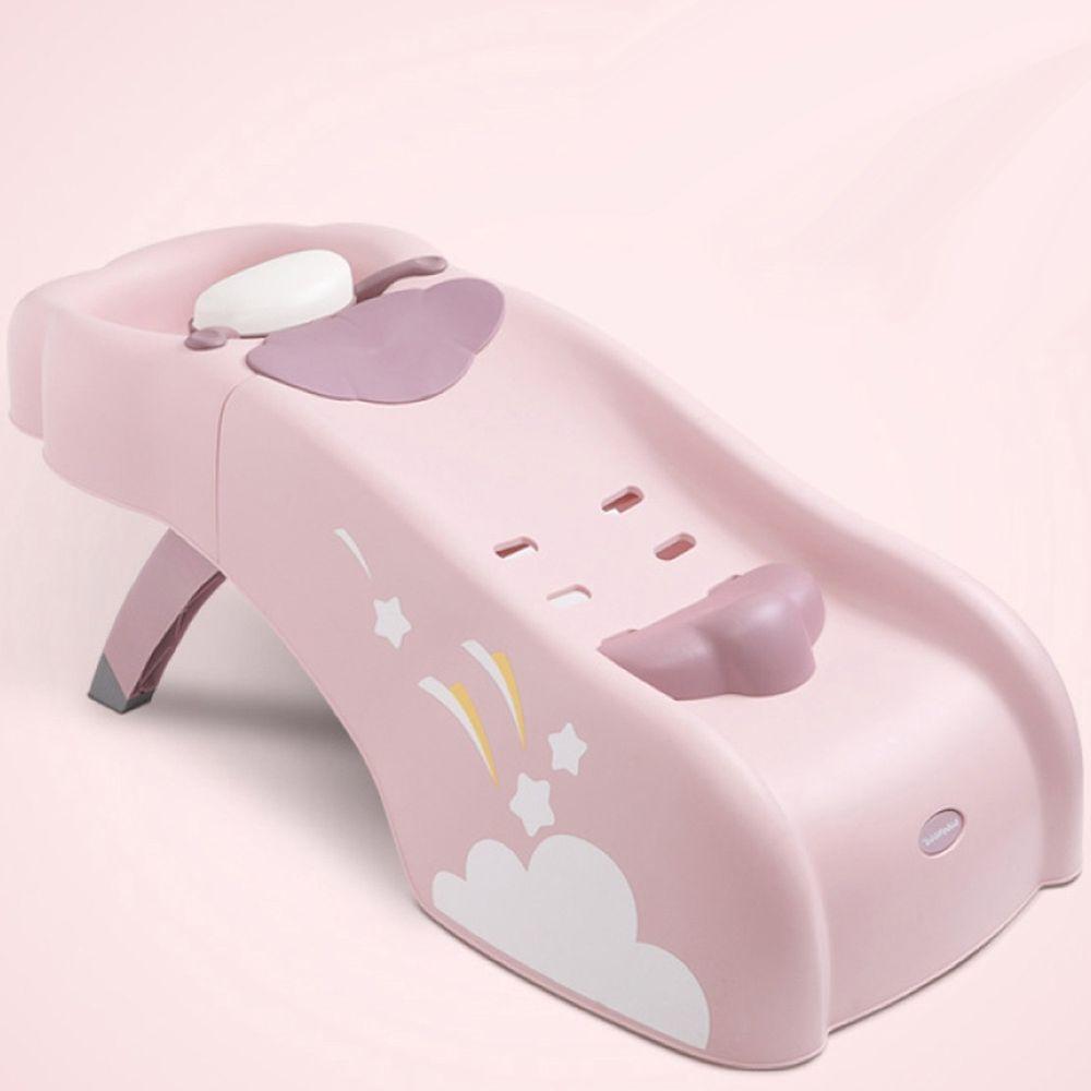babyhood - 艾雲洗頭椅 兒童洗髮椅-較大浴室適用-粉色