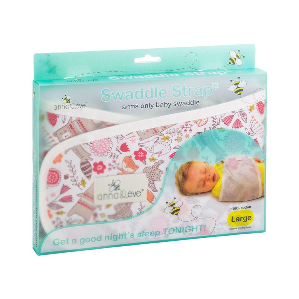 Anna&Eve - 美國 嬰兒舒眠包巾 / 防驚跳新生兒肚圍-白色動物俱樂部