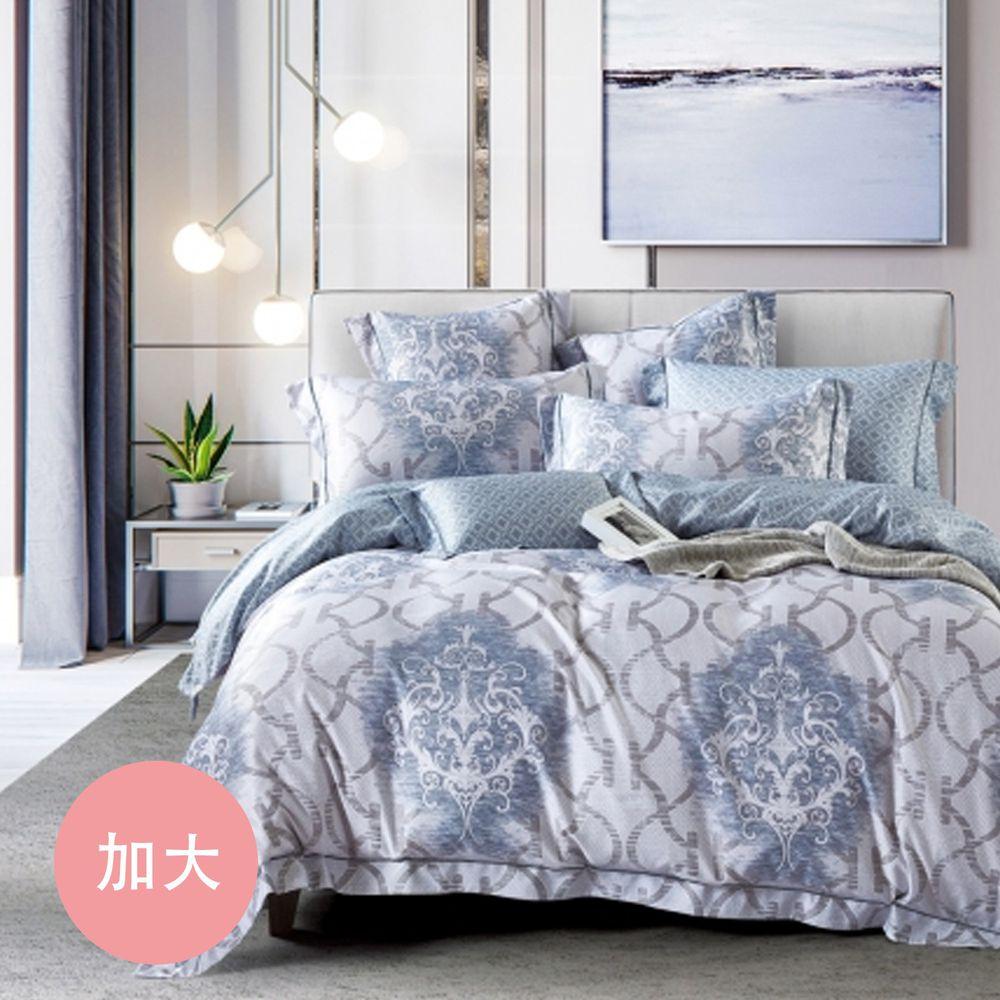 PureOne - 吸濕排汗天絲-飛鸞-加大床包枕套組(含床包*1+枕套*2)