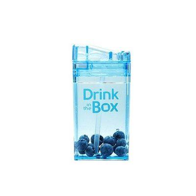 Tritan兒童戶外方形吸管杯-藍色 (235ML)