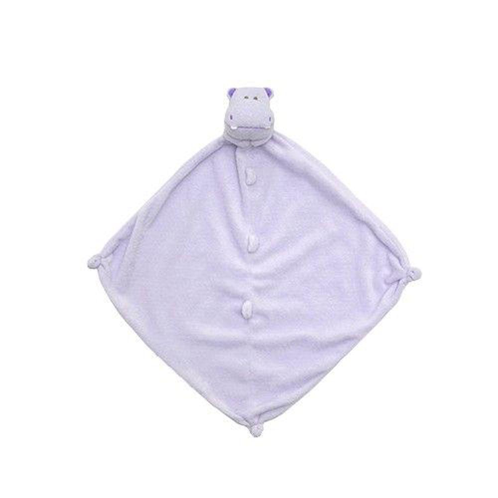 美國 Angel Dear - 動物嬰兒安撫巾-紫色河馬
