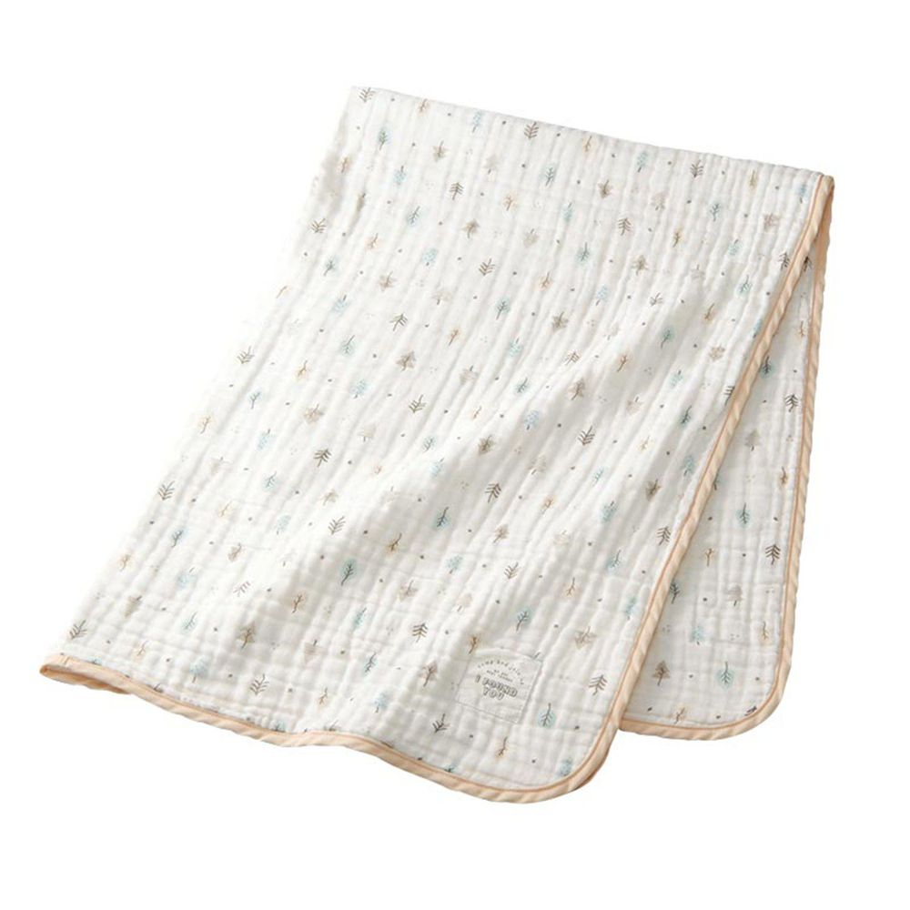 akachan honpo - 蓬鬆棉紗被-淺卡其色 (約85×115cm)