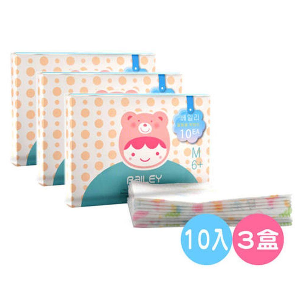 韓國 BAILEY 貝睿 - 拋棄式圍兜-3盒-10入/盒