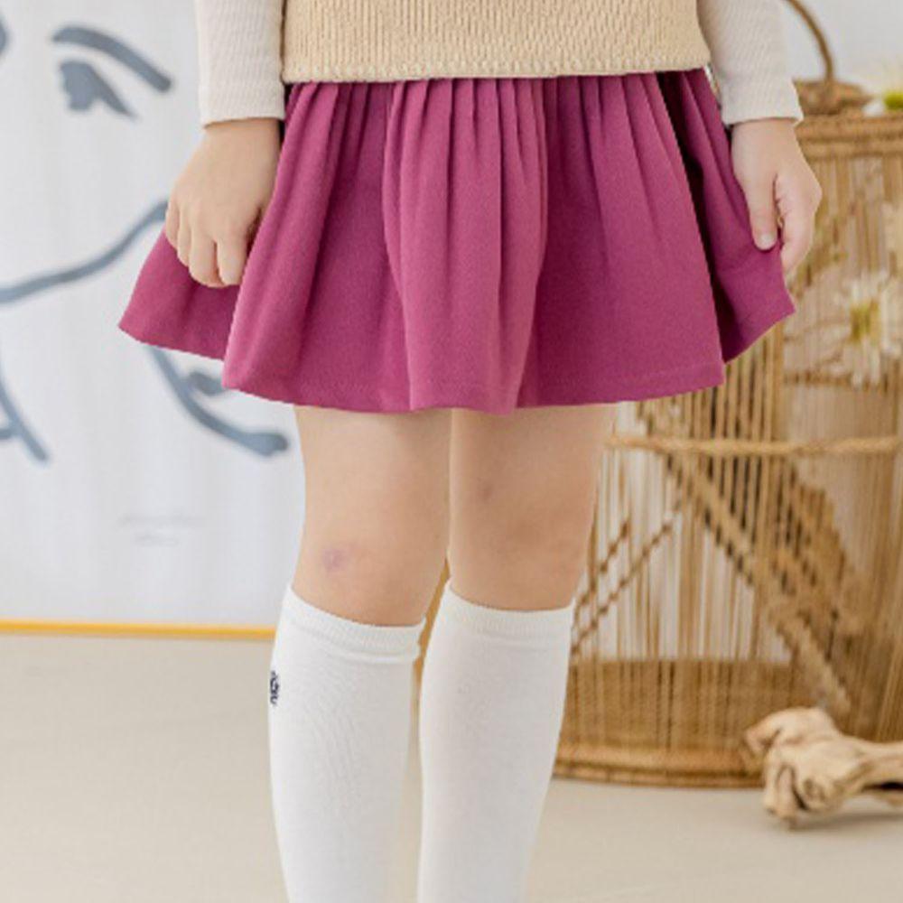 韓國 Orange Mom - 皺摺百搭短裙-粉紫