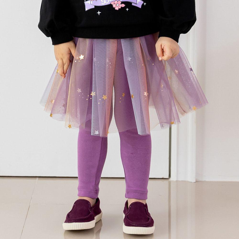 韓國 ERU - 漸層彩虹網紗褲裙-紫