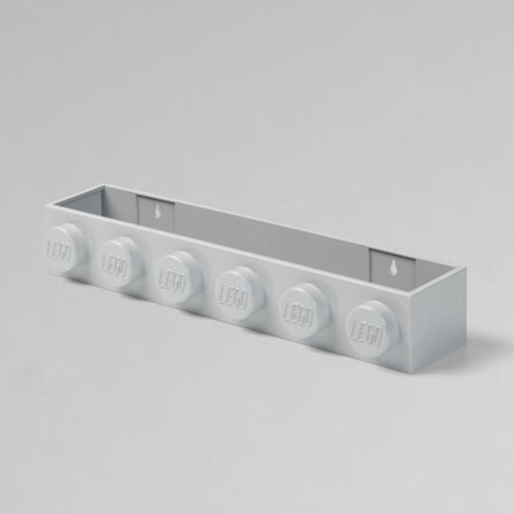 丹麥 Room Copenhagen - 丹麥LEGO 樂高造型書架-低調灰 (47.8 x 7.8 x 11.5 cm)