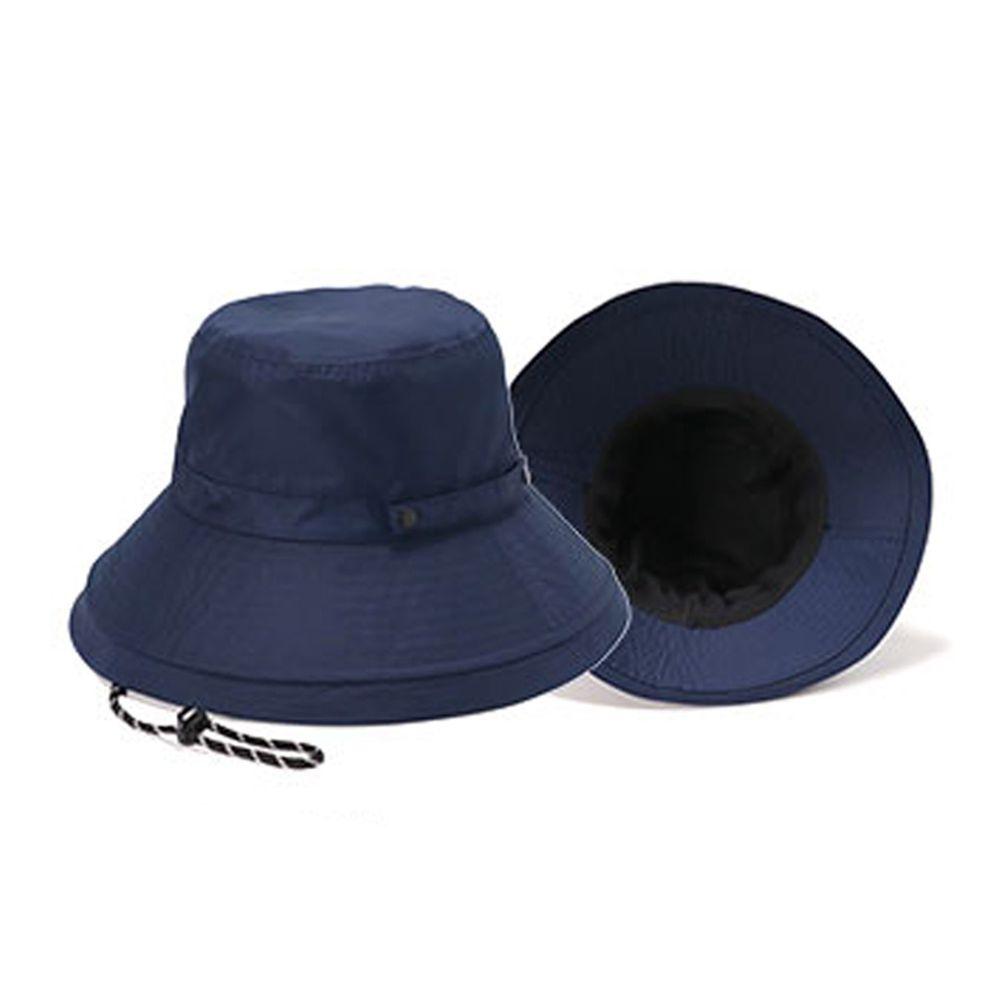 日本服飾代購 - 【irodori】抗UV可捲收防潑水遮陽帽(附防風帽帶)-海軍藍