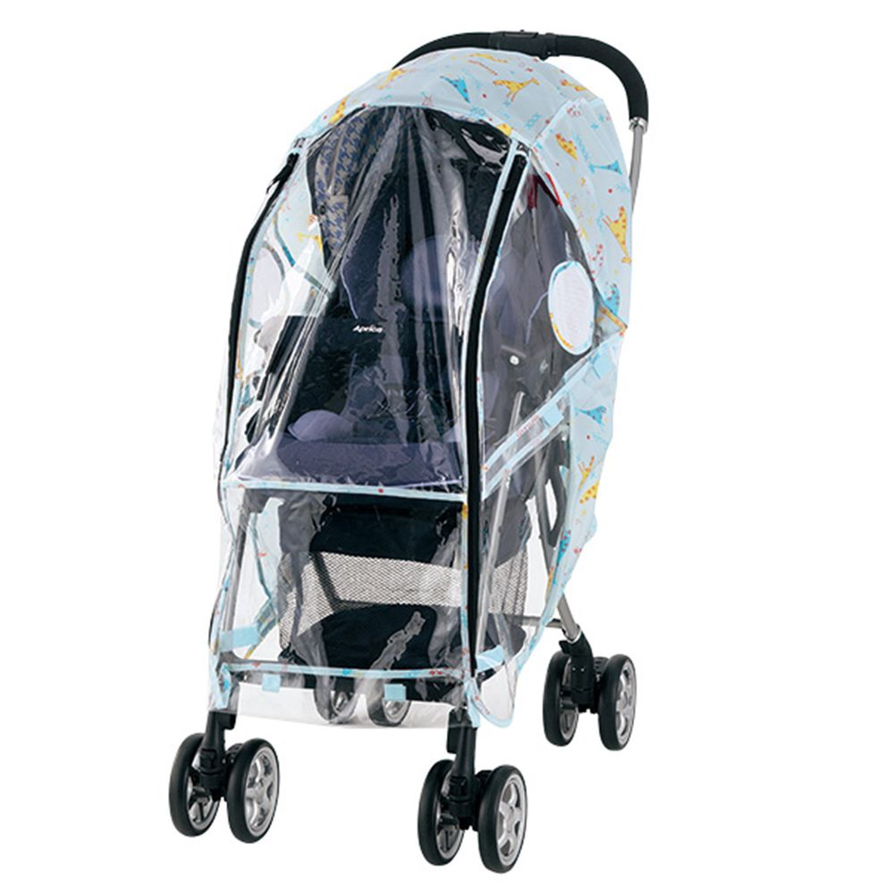 akachan honpo - angelette嬰兒推車用雨罩 長頸鹿 淺藍色