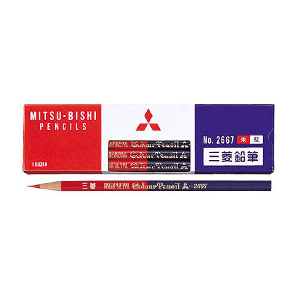 日本文具代購 - Uni三菱 日本製雙色六角鉛筆12支