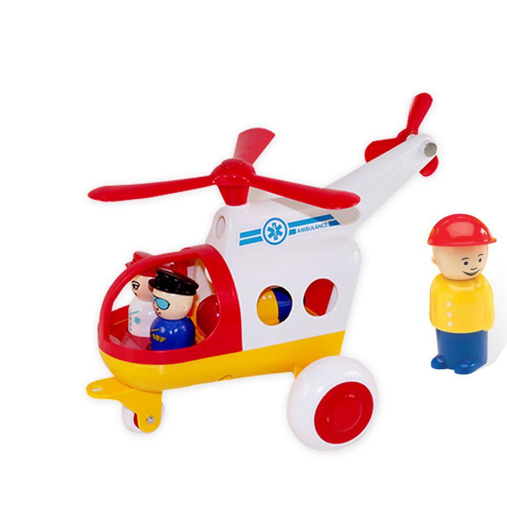 瑞典Viking toys - Jumbo救援直升機(含3隻人偶)-30cm