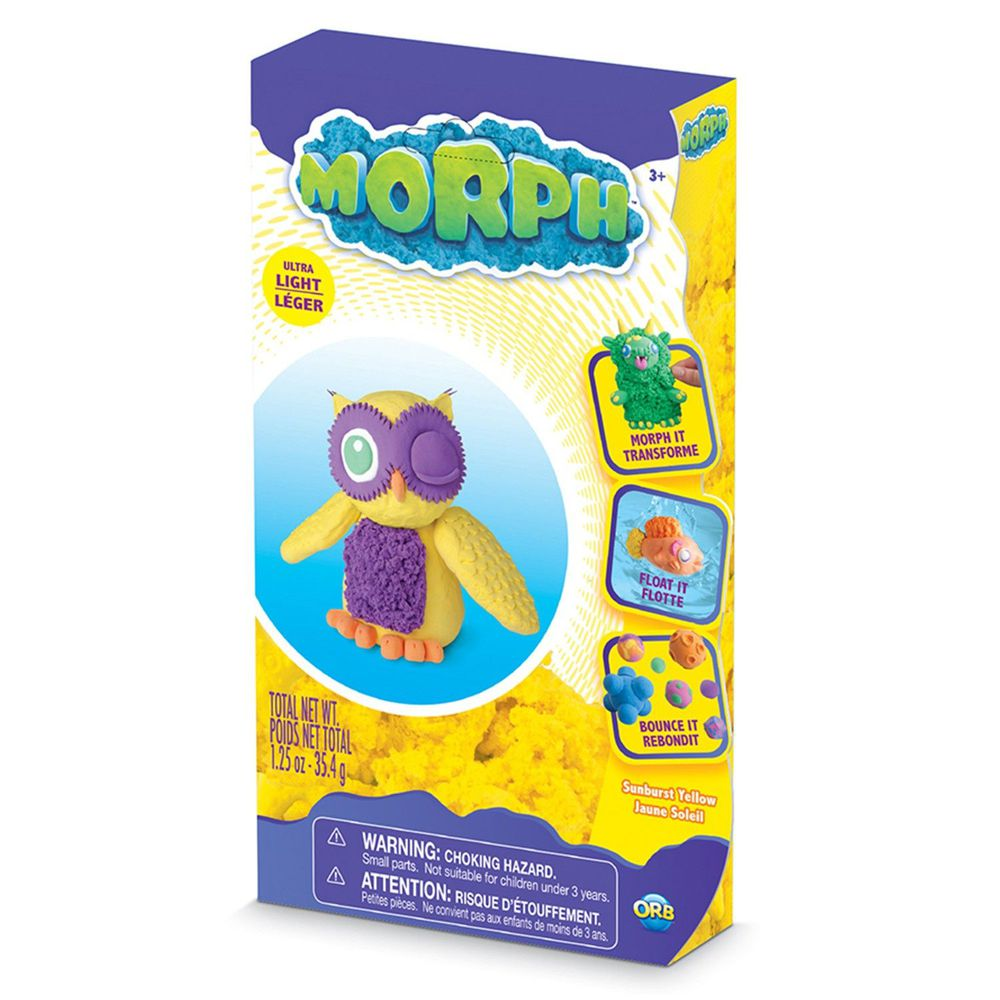 瑞典 MORPH - 魔塑黏土-黃 (M)-35.4g