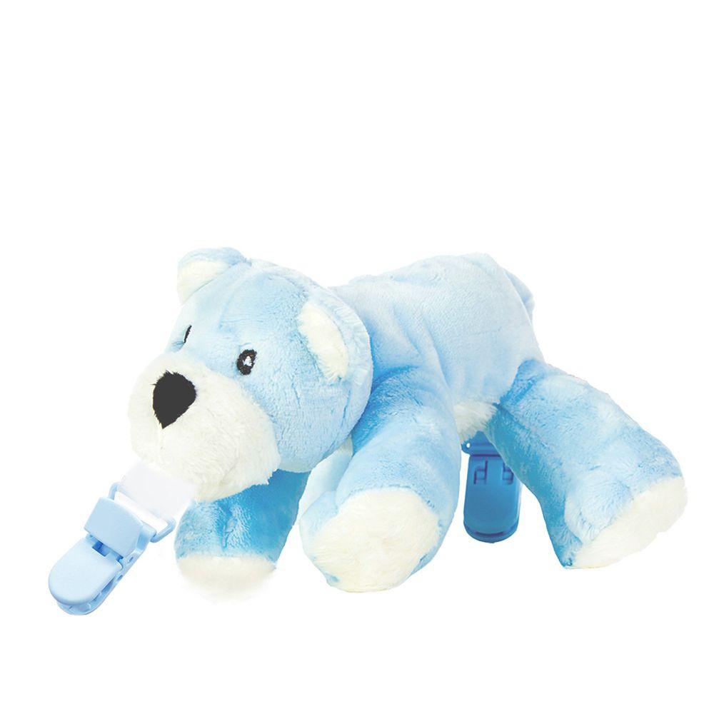 Snuggle 史納哥 - 娃娃奶嘴夾-小藍熊