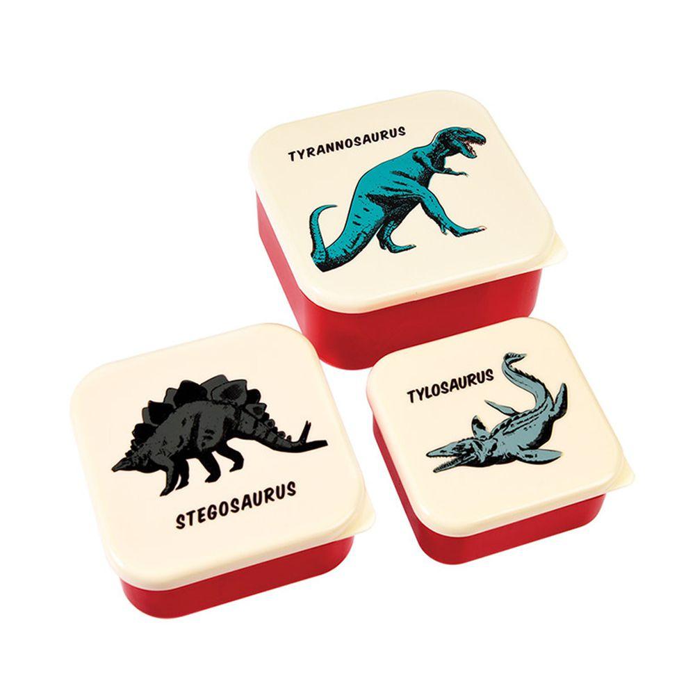 英國 Rex London - 餐盒/零食盒3入組-恐龍樂園