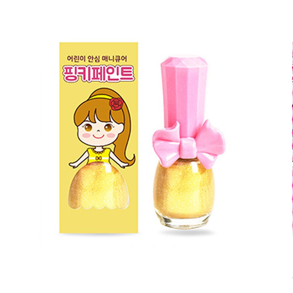 韓國 Pink Princess - 可撕式無毒指甲油-璀璨陽光(亮粉色系)