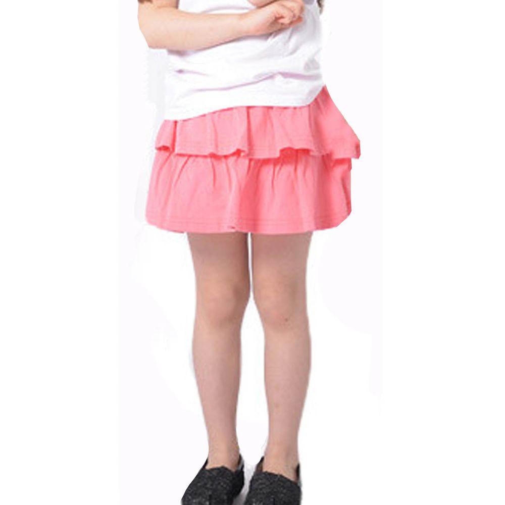 日本 TORIDORY - 百搭蛋糕安全褲裙-桃粉