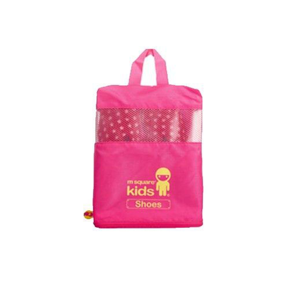 m square - kids 兒童鞋袋-螢光粉