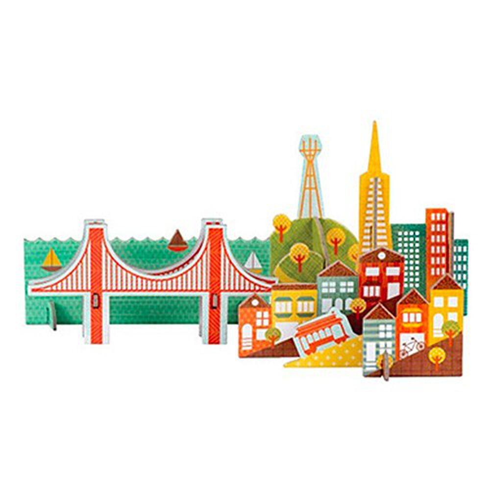 美國 Petit Collage - 立體組裝拼圖-城市之旅 - 舊金山