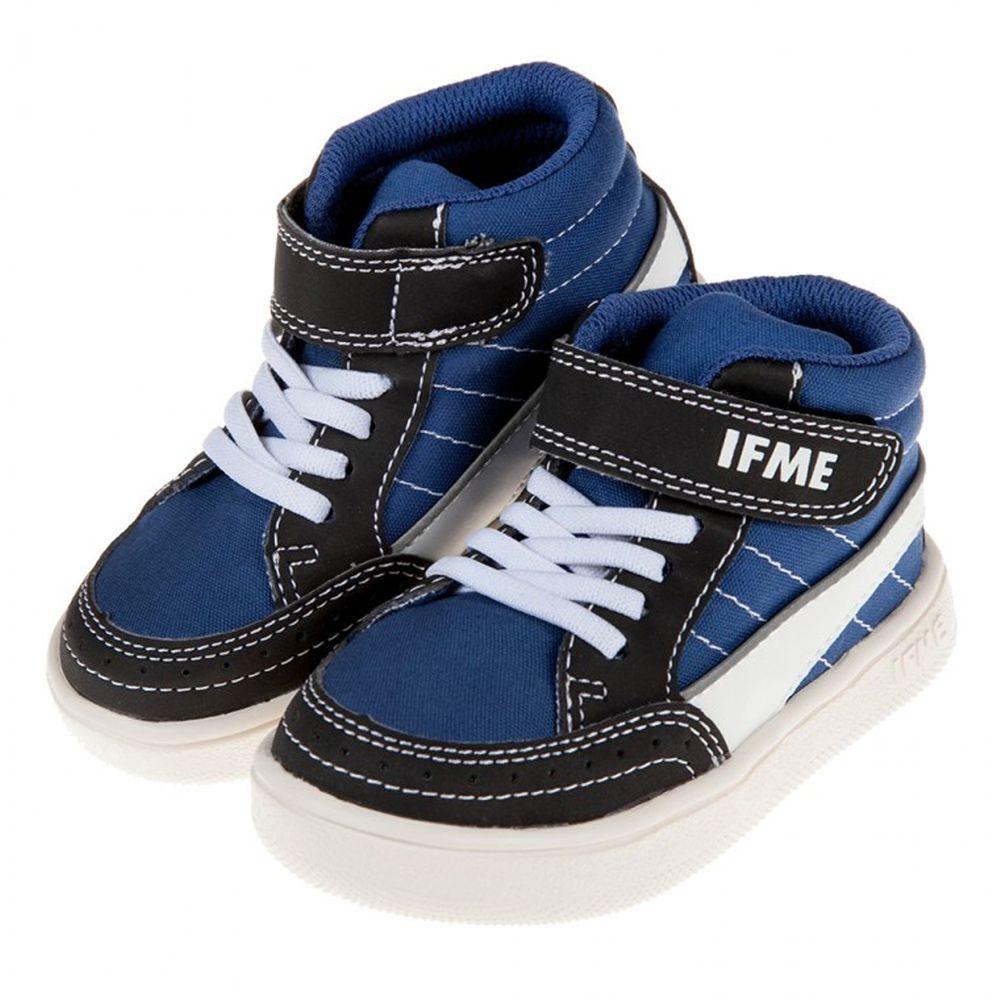 日本IFME - 日本IFME紳士線條海軍藍超輕量中筒兒童機能運動鞋