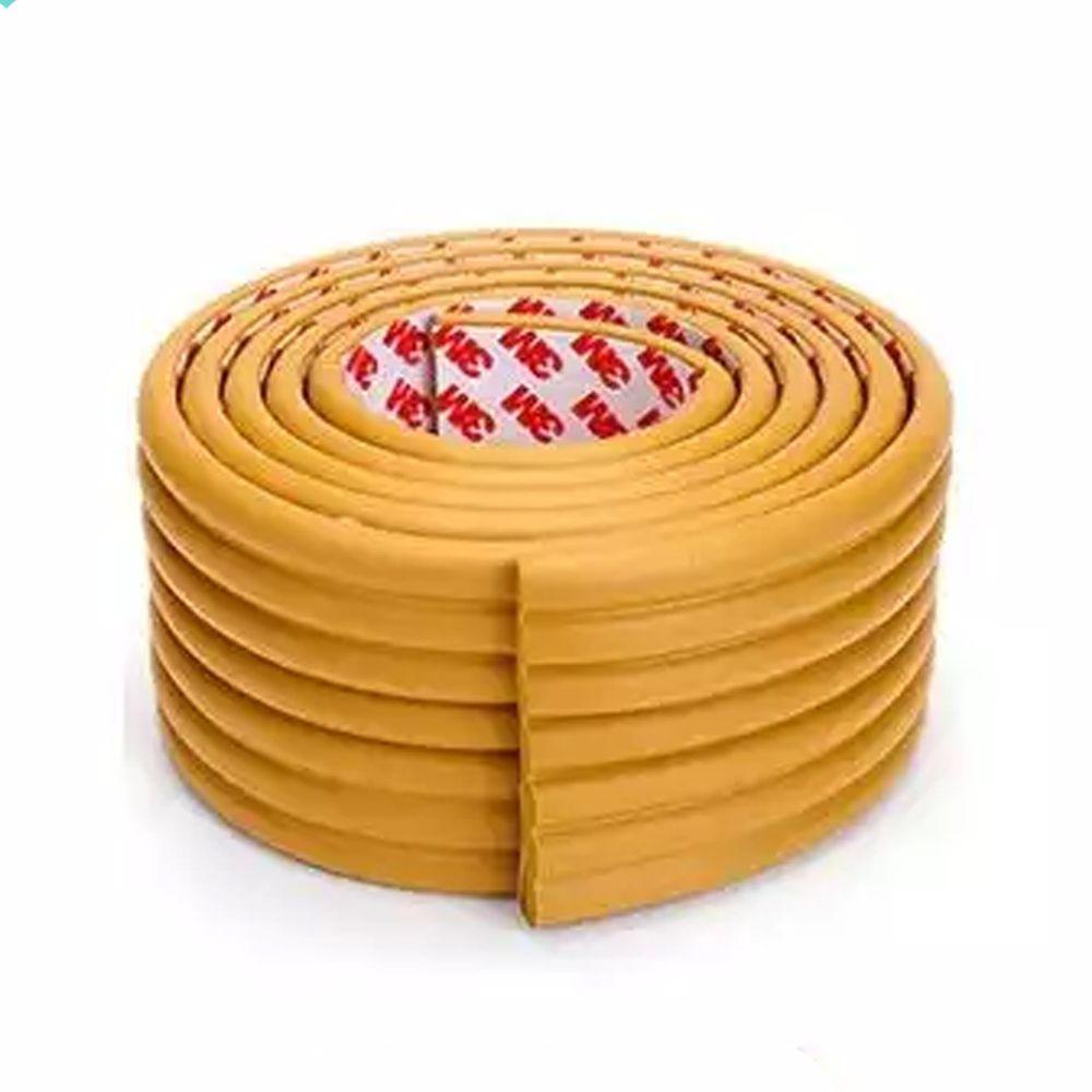多功能自黏加厚加寬防撞條-2公尺*1入-土色-送自黏加厚防撞角4入