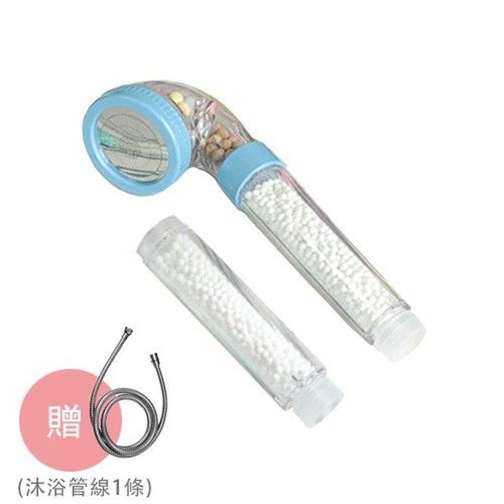 潔霖安健 - 嬰幼兒健康沐浴器-加贈沐浴管線1條(市價$350)-粉藍-沐浴器(蓮蓬頭)x1支+備用把手濾芯x1支