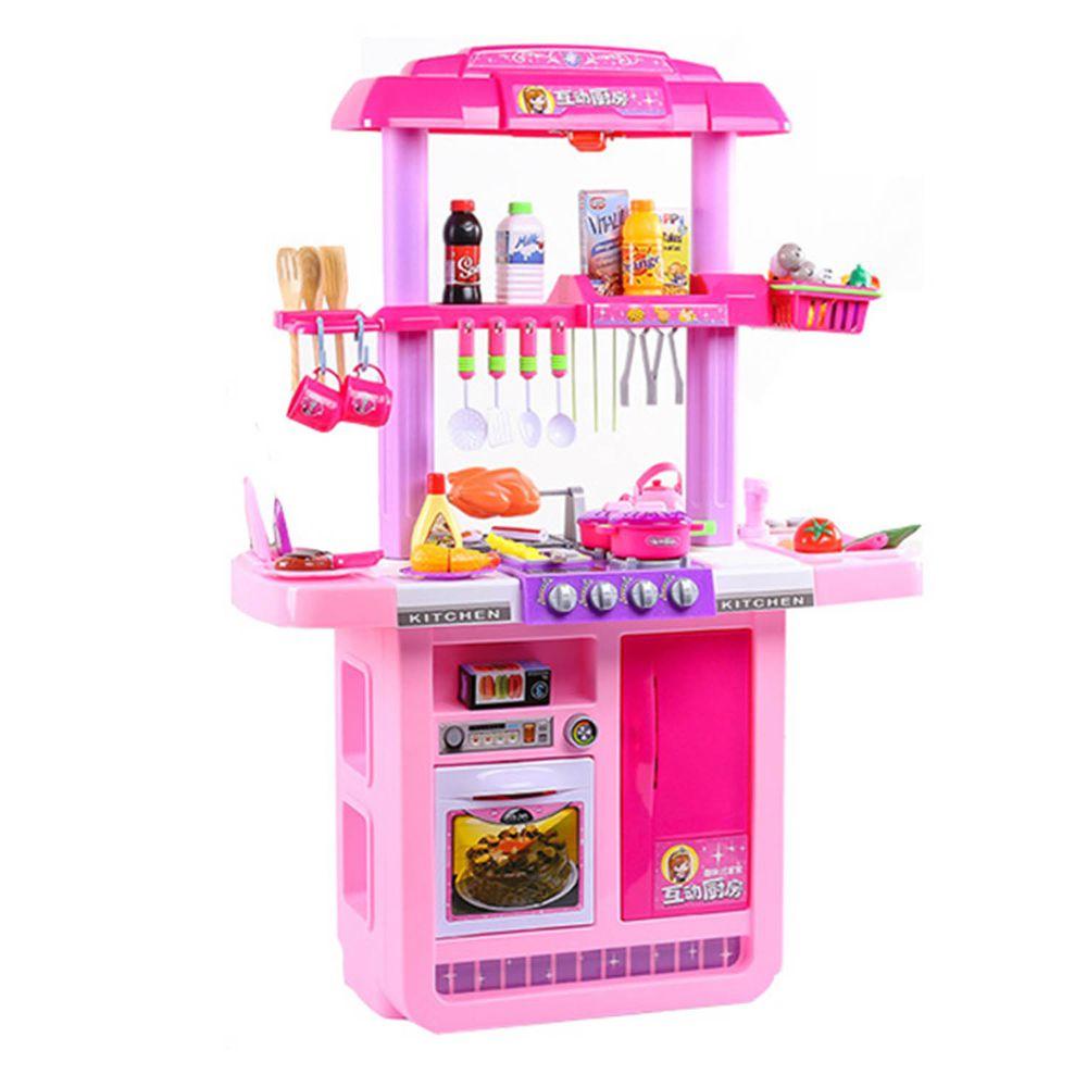 酷比樂 - 豪華聲光雙面廚具組-粉紅色
