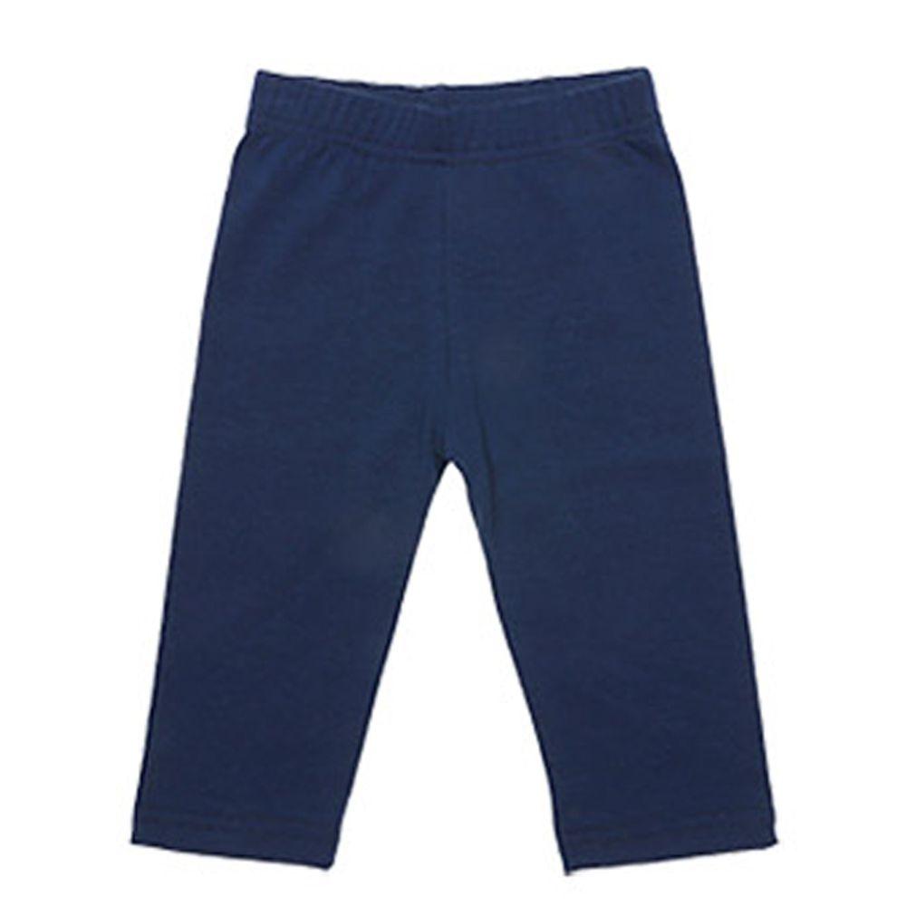 韓國 Rainbowkids - 40支純棉單色7分內搭褲-深藍