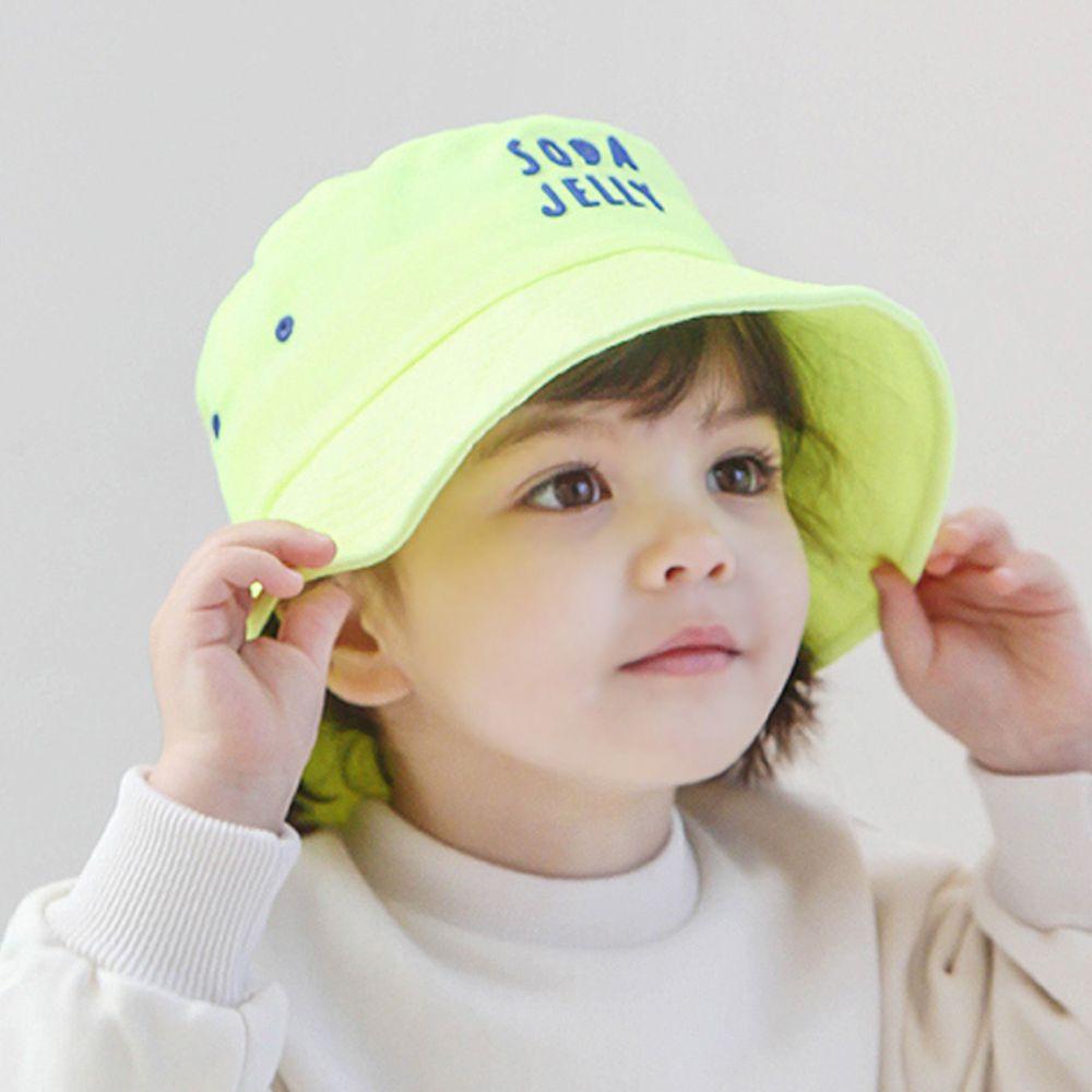 韓國 Babyblee - 活力汽水漁夫帽/遮陽帽-萊姆黃 (頭圍:52cm)