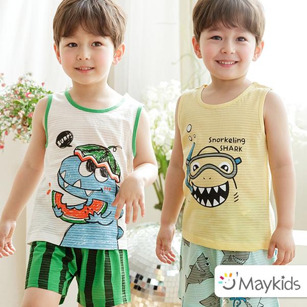 韓國 Maykids 有機棉家居服|兩種透氣材質,短袖/ 七分袖/內衣褲通通有!