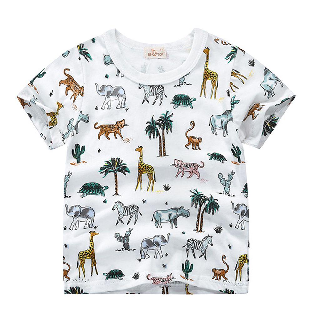 非洲動物園純棉短袖上衣