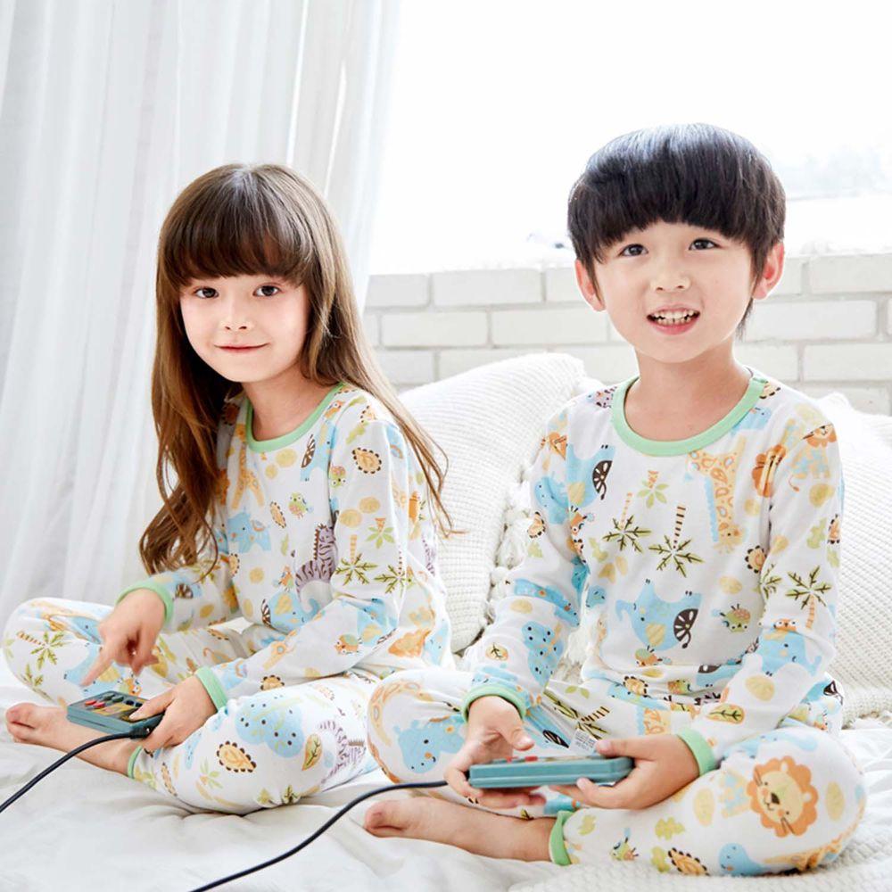 ZIHOU - 兒童秋季純棉居家服-童趣動物風