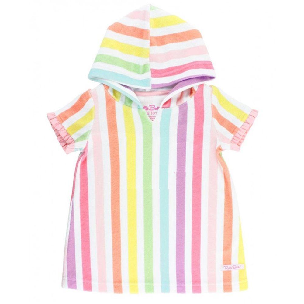 美國 RuffleButts - 兒童游泳罩衫/浴巾-彩虹糖