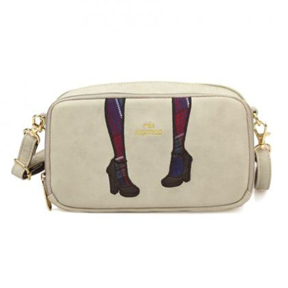 mis zapatos - 單肩質感錢夾包-skinny高跟鞋-BE米色 (21*12*7cm)