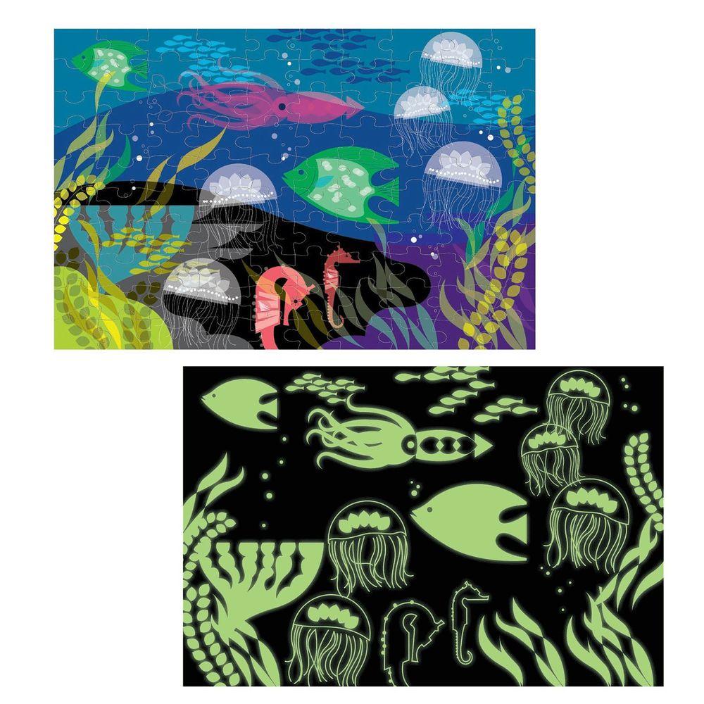 美國 mudpuppy - 美國 mudpuppy-夜光拼圖-海底世界-100片-海底世界-團購專案