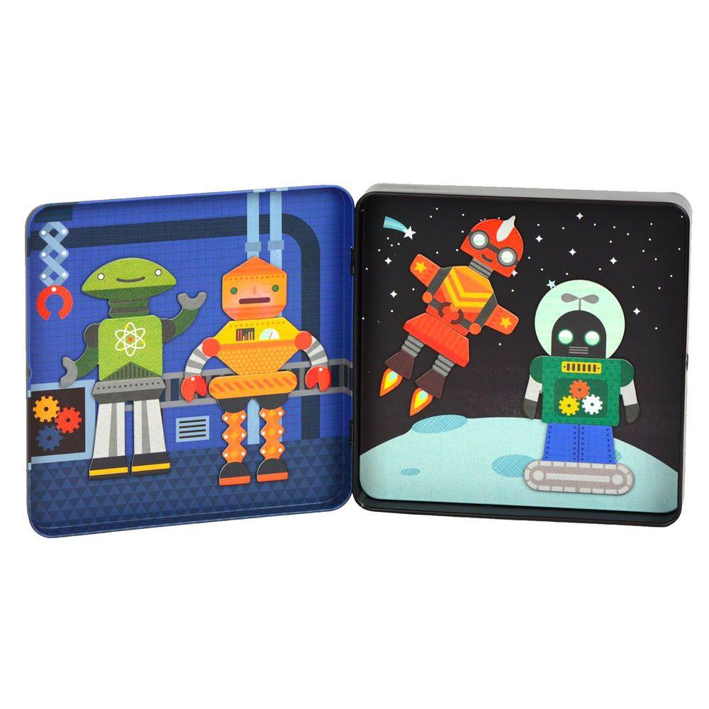 美國 Petit Collage - 磁鐵遊戲盒-百變機器人