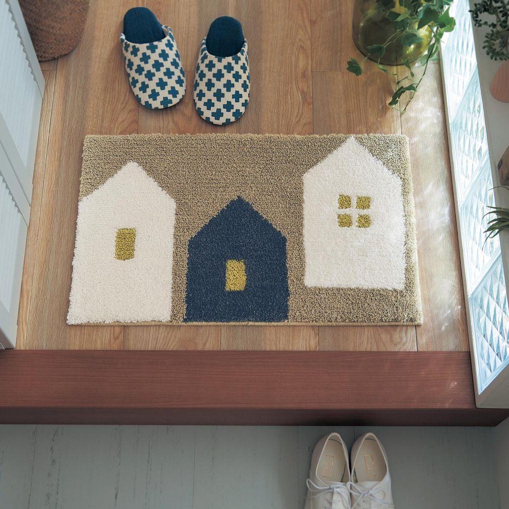 日本千趣會 - 質感長毛腳踏墊(玄關/房門)附贈止滑墊*2-北歐小屋