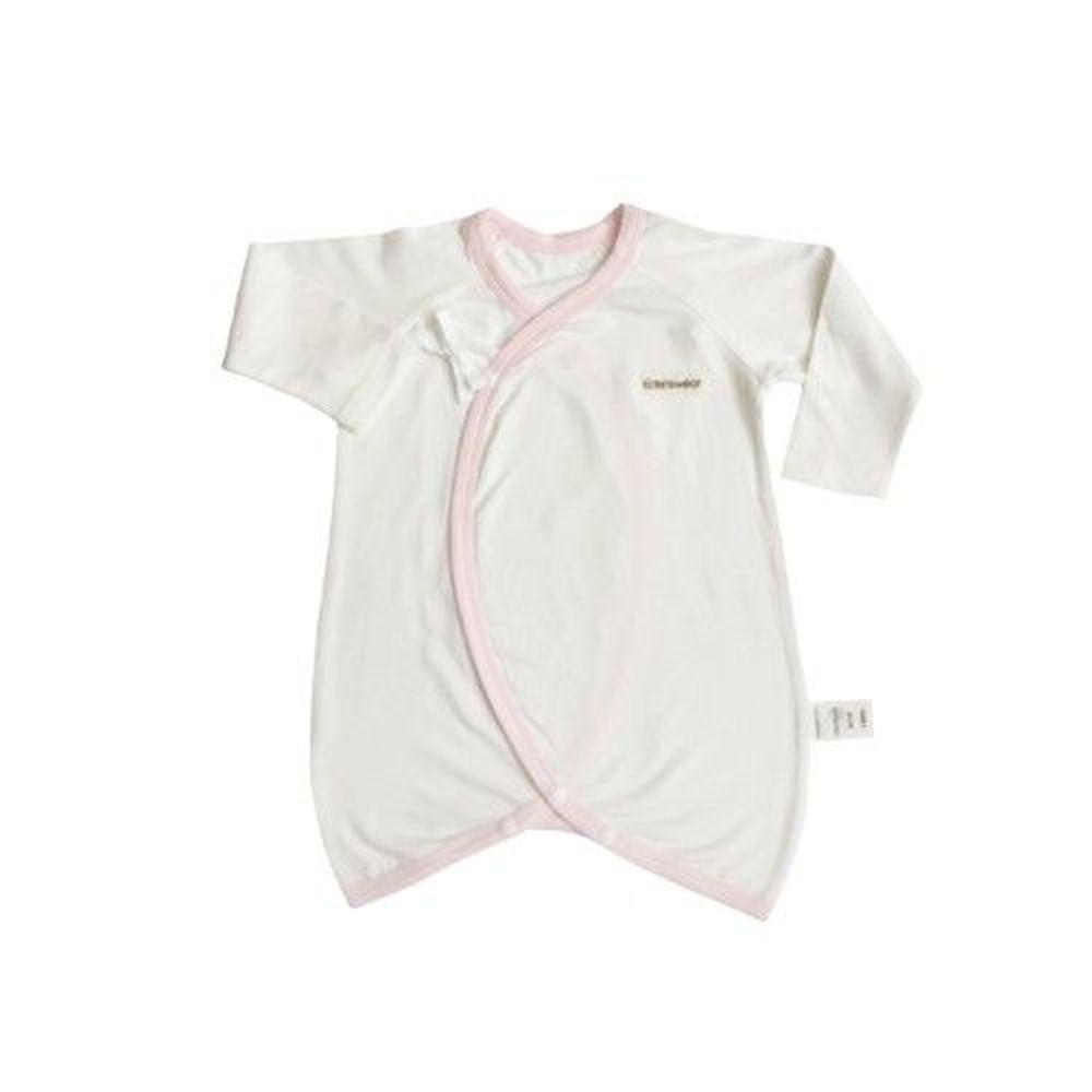 Edenswear 伊登詩 - 鋅健康抗敏系列-嬰兒滾邊綁帶蝴蝶裝-淺粉