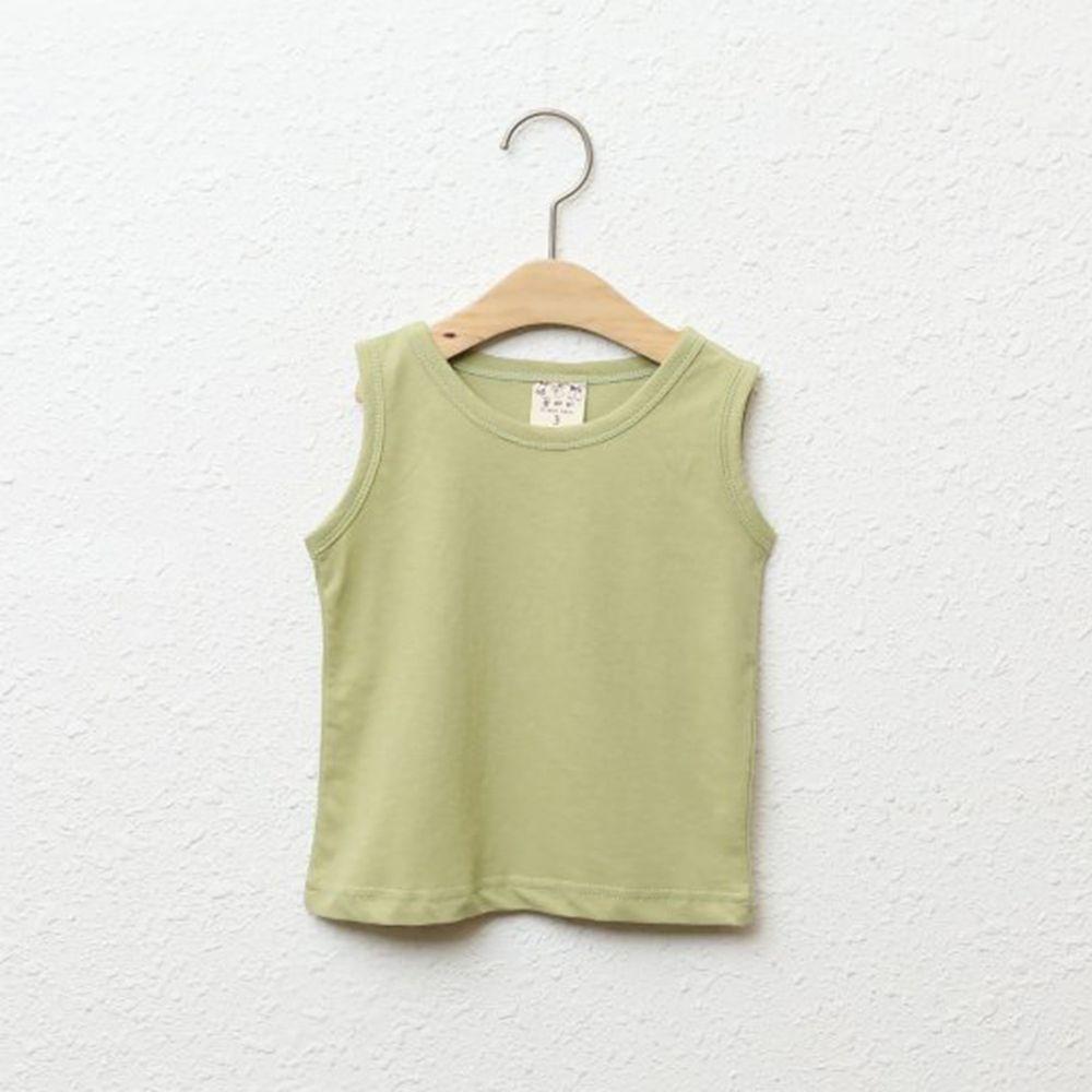 韓國製 - 純棉小背心-抹茶綠