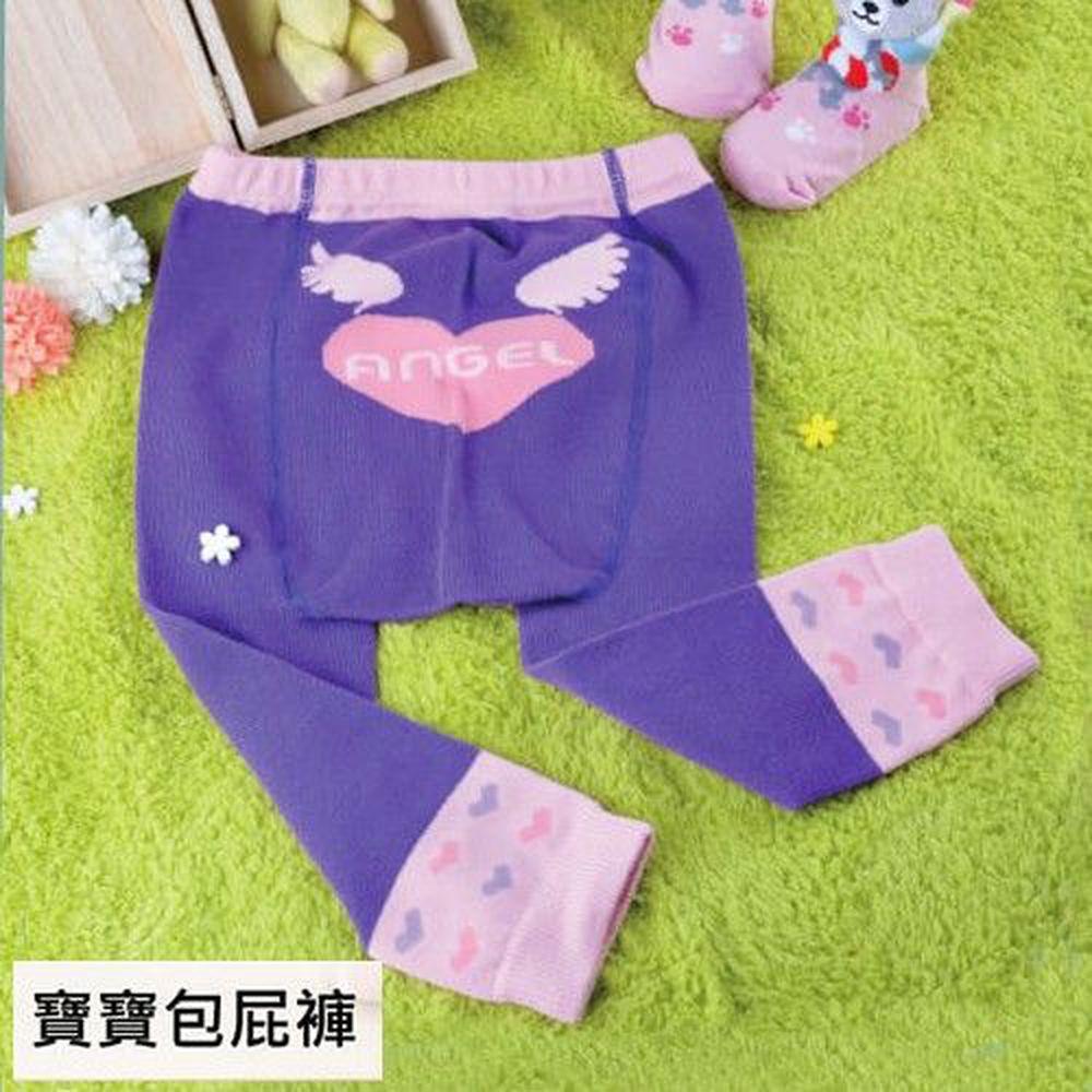 貝柔 Peilou - 百搭兒童屁屁褲-天使紫