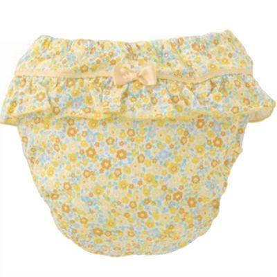 純棉四層學習褲-碎花小裙-粉黃
