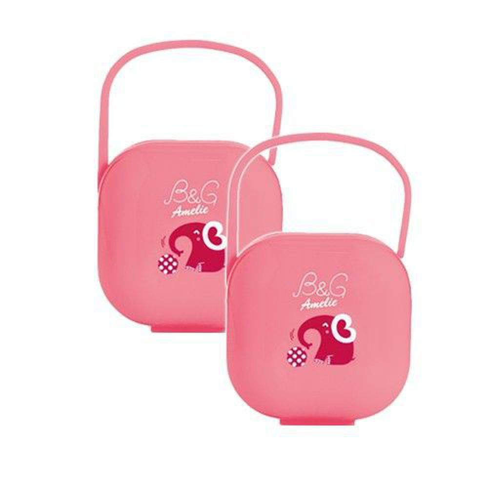 Baby Garden - 安撫奶嘴收藏盒-二入組-小紅象x2