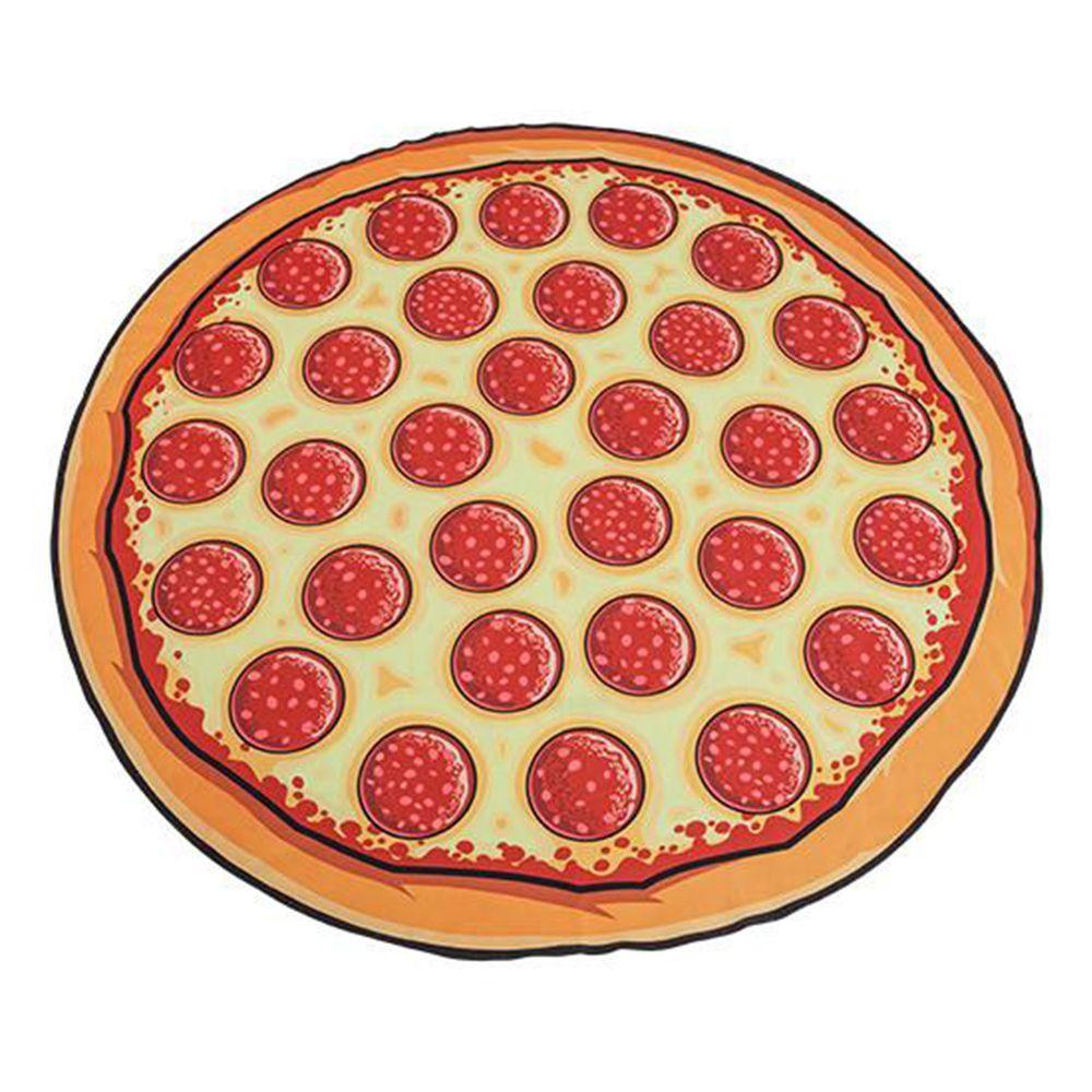 美國 Big Mouth - 造型海灘毯-披薩款