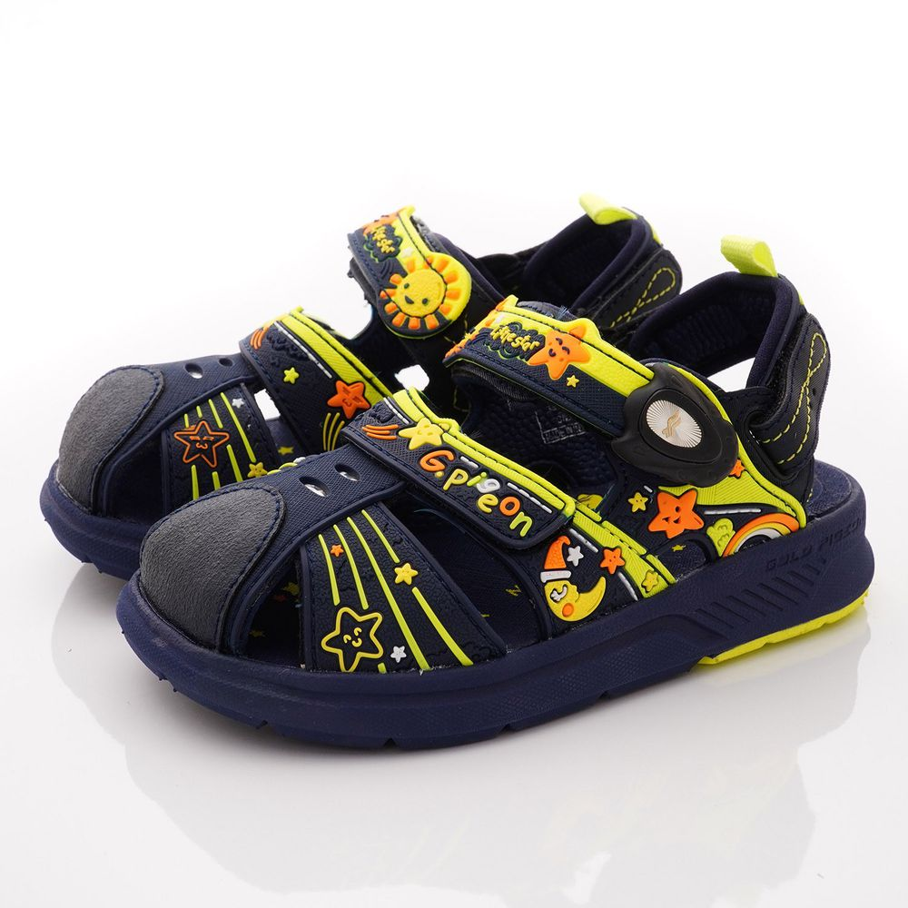 G.P - 護趾磁扣兩穿涼拖鞋款(中小童段)-藍綠