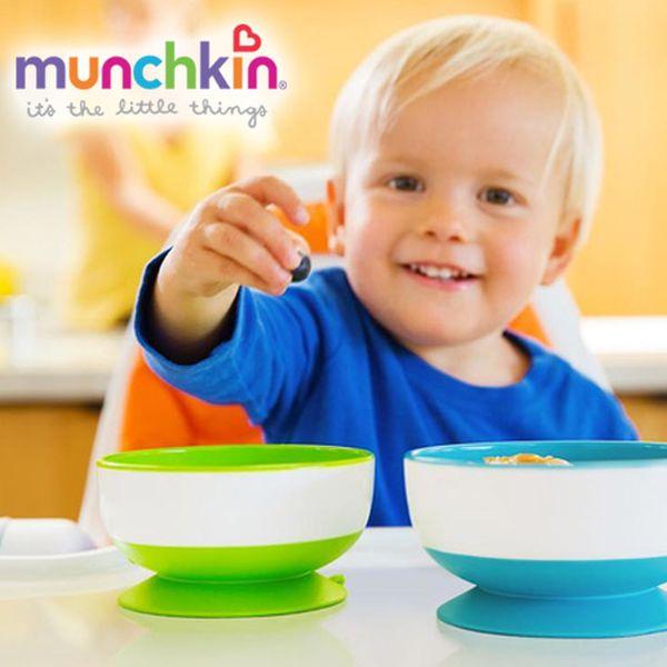 munchkin 吸盤碗、餐盤、學習杯、圍兜,寶寶自己吃飯好幫手