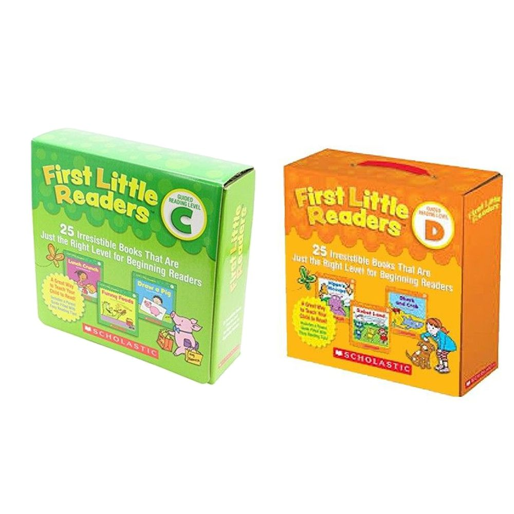 Scholastic - 【超值購】我的第一套小小閱讀文庫First Little Readers Level C+D-2盒組