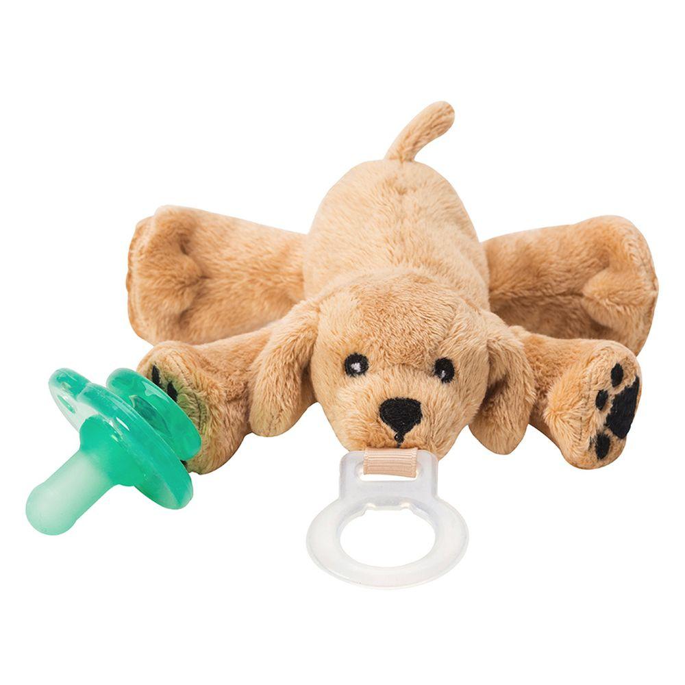 美國 nookums - 寶寶 可愛造型 安撫奶嘴 / 玩偶-黃金小狗狗
