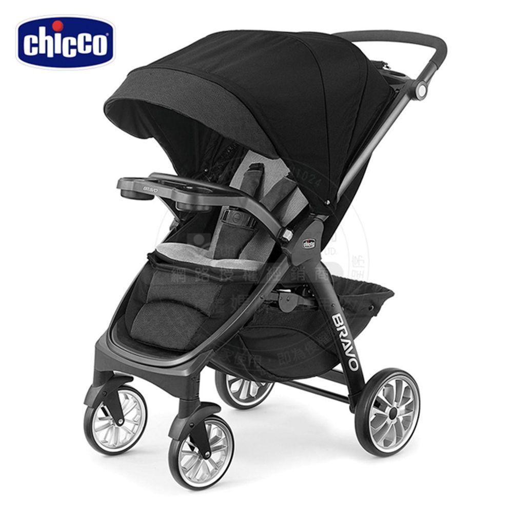 義大利 chicco - Bravo極致完美手推車限定版-晶墨黑