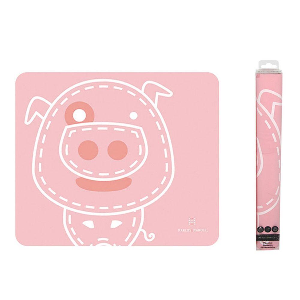 MARCUS&MARCUS - 動物樂園矽膠餐墊-粉紅豬